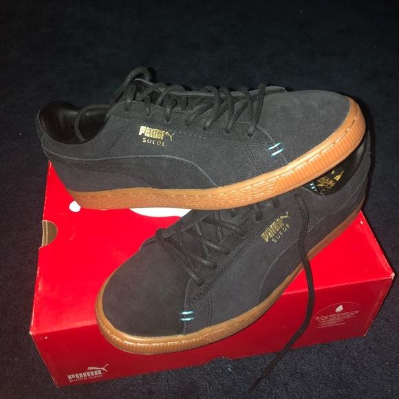 Puma Shoes | Puma Suede Black Blue Gum